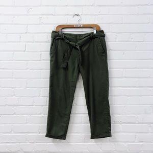 TOMMY HILFIGER paper bag trousers khaki